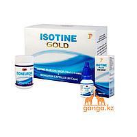 Айсотин Голд (Isotin Gold), 10 мл * 4 шт + 60 капсул