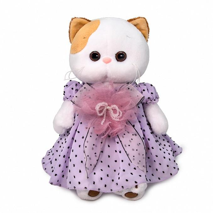 """Мягкая игрушка """"Кошечка Ли-Ли"""" в нежно сиреневом платье, 27 см"""
