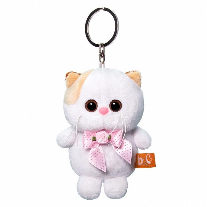 """Мягкая игрушка-брелок """"Кошечка Ли-Ли"""" с розовым бантиком, 12 см"""
