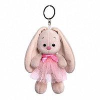 """Мягкая игрушка-брелок """"Зайка Ми"""" в розовой юбке и с бантиком, 14 см"""