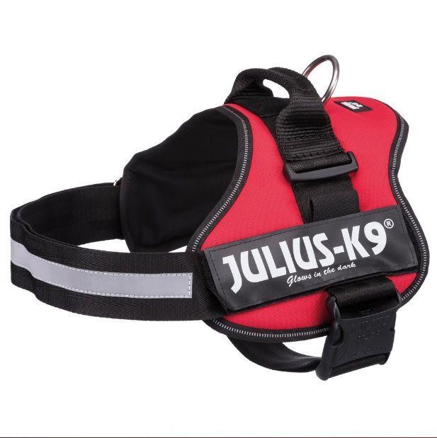 Шлейка. Julius-K9® шлейка для собак, 3/XL–XXL: 82–116 cm/50 mm, burgundy.