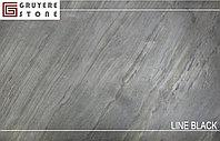Каменный шпон Line Black гибкий камень
