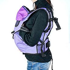 Рюкзак-кенгуру для переноски детей, цвет коричневый, фото 3