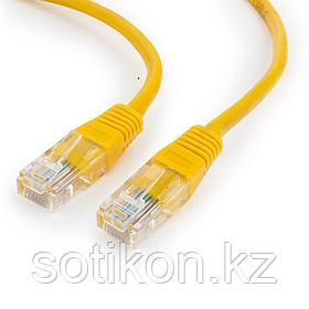 Патч-корд UTP Cablexpert PP12-10M/Y кат.5e, 10м, литой, многожильный (жёлтый)