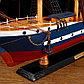 Корабль сувенирный большой «Орел», борт синий с белой полосой, 75х65х15 см, фото 4