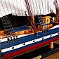 Корабль сувенирный большой «Орел», борт синий с белой полосой, 75х65х15 см, фото 5