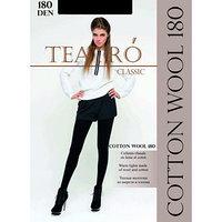 Колготки женские шерстяные Cotton Wool 180 цвет чёрный (nero), р-р 5