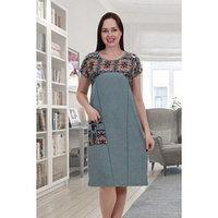 Платье женское, цвет хаки, размер 54