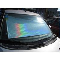 Автомобильная шторка на стекло, раздвижная 50 x 125 см, цвет хром