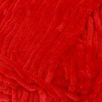 Пряжа 'Velour' 100 микрополиэстер 170м/100г (846 красный)