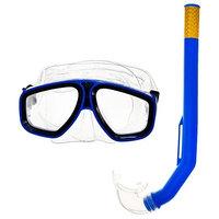 Набор для подводного плавания, 2 предмета маска, трубка, в пакете, цвета МИКС