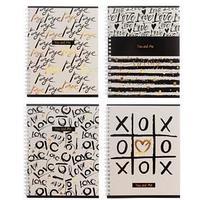 Тетрадь 80 листов в клетку 'Ты и я', обложка мелованный картон, тиснение фольгой, офсет, МИКС (комплект из 4 шт.)