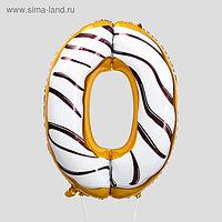 """Шар фольгированный 34"""" «Цифра 0», пончик"""