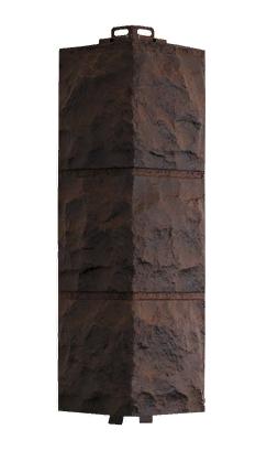 Угол Наружний Коричневый 485х140х140 мм Доломит Дачные FINEBER