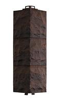 Угол Наружный Тёмно-коричневый 485х140х140 мм Доломит ДАЧНЫЙ FINEBER