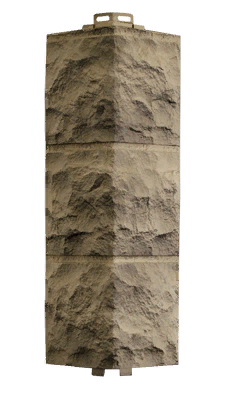 Угол Наружный Дымчатый 485х140х140 мм Доломит ДАЧНЫЙ FINEBER