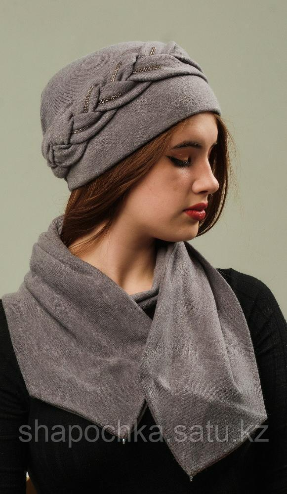 Шапка+шарф коса El Gorro