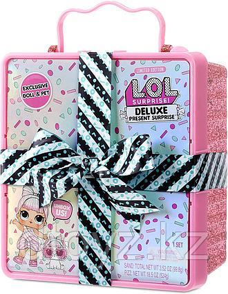 LOL Deluxe Present Surprise - Подарок-сюрприз Делюкс с Бантом розовый