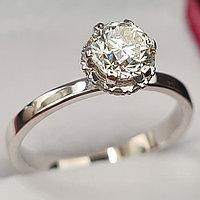 Сертификат GIA 0,95Сt SI1/M  Good-Cut Золотое кольцо с бриллиантом
