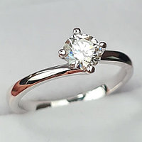 Сертификат GIA 0,50Сt SI1/M EX-Cut Золотое кольцо с бриллиантом