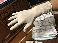 Перчатки медицинские, хирургические, опудренные, стерильные. Размеры M
