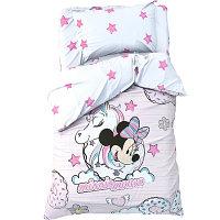 """Детское постельное бельё 1,5 сп """"Minnie Mouse"""" с единорогом"""