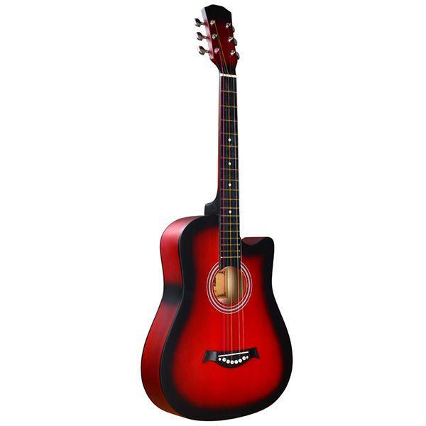 Акустическая гитара, с вырезом, красный санберст, Fante FT-D38-RDS