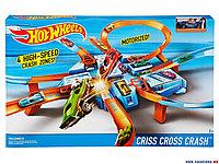 Трек Хот Вилс Hot Wheels Criss Cross Crash Track Set - «опасный перекресток» «авария крест накрест», фото 1