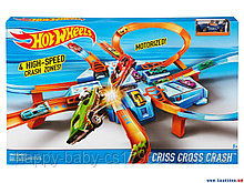 Трек Хот Вилс Hot Wheels Criss Cross Crash Track Set - «опасный перекресток» «авария крест накрест»