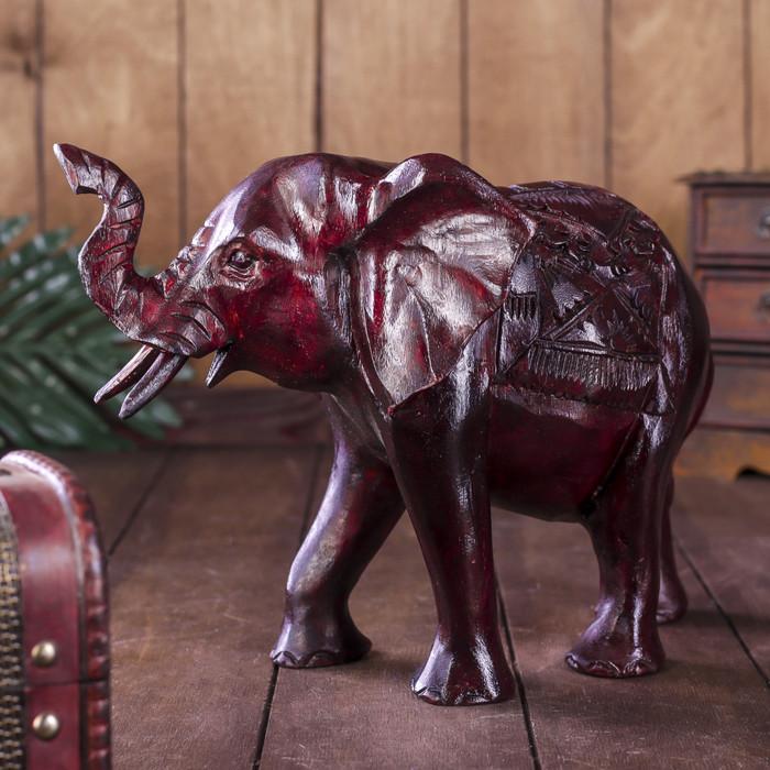 """Сувенир """"Слон"""" резной коричневый"""