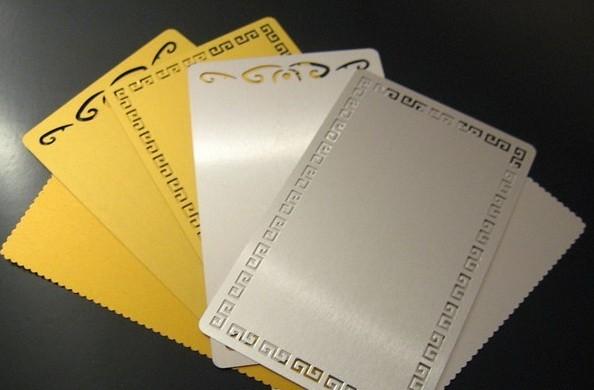 Изготовление металлических визиток (серебро)