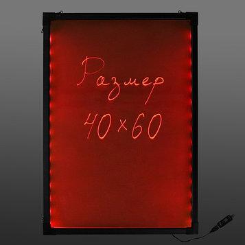 Доска светодиодная 40 х 60 см, под фломастер, LED, с контроллером, 220 В