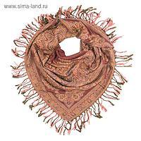 Платок текстильный, размер 100х100 см, цвет оранжевый