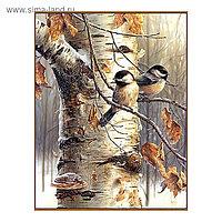 Алмазная мозаика «Воробьи», 45 цветов