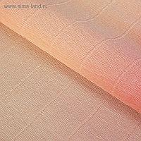 """Бумага гофрированная, """"Персиково-розовый"""" 17А/7, переход цвета, 0,5 х 2,5 м"""