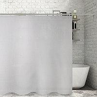 Штора для ванной комнаты Доляна «Классика», 180×180 см, EVA, цвет белый