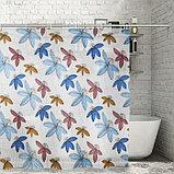 Штора для ванной комнаты Доляна «Цветы», 180×180 см, EVA, фото 2