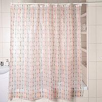 Штора для ванной комнаты Доляна «Капли», 180×180 см, EVA