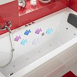 Набор мини-ковриков для ванны Доляна «Рыбка», 11×12 см, 6 шт, цвет МИКС, фото 6