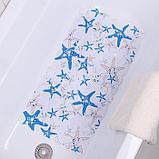 Коврик для ванны Доляна «Моркие звёзды», 35×65 см, галька крупная, фото 3