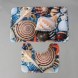 Набор ковриков для ванны и туалета «Ракушки» 2 шт, 79×49, 49×40 см, фото 2