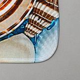 Набор ковриков для ванны и туалета «Ракушки» 2 шт, 79×49, 49×40 см, фото 3