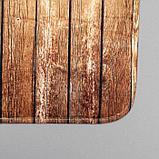 Набор ковриков для ванны и туалета Доляна «Досочки», 2 шт: 79×50, 50×39 см, цвет коричневый, фото 3