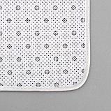 Набор ковриков для ванны и туалета Доляна «Досочки», 2 шт: 79×50, 50×39 см, цвет коричневый, фото 4