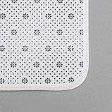Набор ковриков для ванны и туалета «Мрамор», 2 шт: 79×50, 50×39 см, цвет бежевый, фото 4
