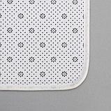 Набор ковриков для ванны и туалета «Камень», 2 шт: 79х50, 50х39 см, цвет бежевый, фото 4