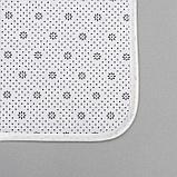 Набор ковриков для ванны и туалета Доляна «Мрамор», 2 шт: 79×50, 50×39 см, цвет серый, фото 3