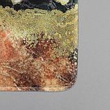 Набор ковриков для ванны и туалета «Мрамор», 2 шт: 79×50, 50×39 см, цвет коричнево-белый, фото 3
