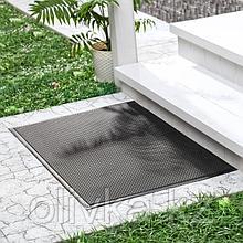 Коврик придверный резиновый «Твист», 60×90 см, цвет чёрный