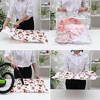 Вакуумный пакет для хранения вещей «Розы», 50×60 см